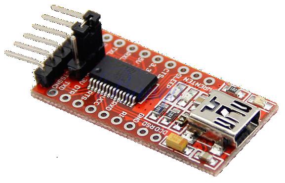 FTD1232 - USB to TTL Serial Adapter - 3 3V and 5V Operation